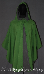 Cloak:3533, Cloak Style:Shape shoulder Ruana raincoat, Cloak Color:Green checkered texture, Fiber / Weave:3 layer ultrex, Cloak Clasp:Vale, Hood Lining:Unlined grey fleece interior, Back Length:40.5&quot; L<br>26&quot; side, Neck Length:19&quot;, Seasons:Southern Winter, Fall, Spring, Note:You will be singing in the rain on your way<br>to school or hiking in this<br>water proof ultrex ruana<br>The 3 layered fabric has a green<br>crosshatched outer lining and an<br>absorbent grey fleece interior, with<br>a thin wind blocking material in between<br>The added pleat in back allows for you<br>and your supplies to travel underneath<br>your cloak&#039;s protection for your comfort.<br>A cross between a cape and a cloak<br>,a ruana is a great way to keep warm<br>when frequent, unhindered<br>use of your arms is needed.<br>Ruanas make great driving cloaks!<br>Machine wash cold..