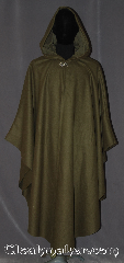 Cloak:3565, Cloak Style:Cape / Ruana, Shaped Shoulder Cloak, Cloak Color:Sage Green, Fiber / Weave:80% Wool<br>20% Nylon, Cloak Clasp:Vale, Hood Lining:Matching Sage Green Moleskin, Back Length:49.5&quot; back<br>27.5&quot; side, Neck Length:21.5&quot;, Seasons:Winter, Southern Winter, Fall, Spring, Note:Warm enough for new England winters.<br>Our sage green shape shoulder ruana<br>is a cross between a cape and a cloak<br>with less bulk, and a great way<br>to keep warm while frequent,<br>unhindered use of your arms is needed.<br>Made of a soft 100% wool melton<br>with a grosgrain interior edging.<br>The closure is a classic<br>Vale hook and eye clasp<br>Ruanas make great driving cloaks!<br>Can be hemmed to height.<br>Spot or dry clean only..