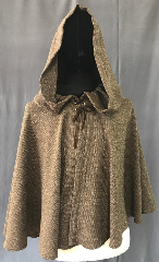 Cloak:3573, Cloak Style:Full Circle Cloak, Cloak Color:Heathered Woven Brown, Fiber / Weave:Polyester, Cloak Clasp:Ties, Hood Lining:Unlined, Back Length:26&quot;, Neck Length:22&quot;, Seasons:Spring, Summer, Note:This was inspired by Michonne&#039;s Cloak<br>from the Walking Dead.