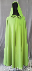Cloak:3578, Cloak Style:Full Circle Cloak, Cloak Color:Spring Green, Fiber / Weave:Polyester Twill, Cloak Clasp:Vale, Hood Lining:Unlined, Back Length:54&quot;, Neck Length:22&quot;, Seasons:Spring, Fall, Summer, Note:A bright happy spring green cloak<br>that will keep the chill of<br>the spring night off.<br>Finished with a matching grosgrain<br>ribbon for a professional look<br>and a silvertone vale closure.<br>Best of all machine washable..