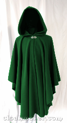Cloak:3594, Cloak Style:Ruana, Cloak Color:Kelly Green, Fiber / Weave:80% wool,<br> 20% nylon, Cloak Clasp:Vale, Hood Lining:Unlined, Back Length:40&quot;, Neck Length:22&quot;, Seasons:Spring, Fall, Southern Winter.