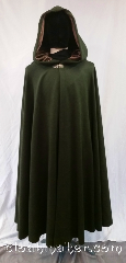Cloak:3612, Cloak Style:Full Circle Cloak, Cloak Color:Heathered Loden Green, Fiber / Weave:100% wool, Cloak Clasp:Vale, Hood Lining:Grey Green Velvet, Back Length:51&quot;, Neck Length:21&quot;, Seasons:Spring, Fall, Southern Winter, Note:Heathered loden green makes this<br>cloak a woodman&#039;s (or woodlady&#039;s) delight.<br>The color cannot be captured on<br>camera as it flits between dark<br>autumnal green and heathered<br>sea blue hues.<br>The gray/green velvet hood color<br>compliments any complexion.<br>Dry Clean only..