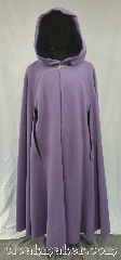 Cloak:3615, Cloak Style:Shape Shoulder Cloak, Cloak Color:Lavender, Fiber / Weave:80% wool,<br> 20% nylon, Cloak Clasp:Triple Medallion, Hood Lining:Purple Velvet, Back Length:52&quot;, Neck Length:22&quot;, Seasons:Winter, Spring, Fall, Note:Luscious lovely lavendar compliments many<br>and the addition of a deep purple hood lining<br>makes this shaped-shoulder cloak<br>a stunning addition to your wardrobe.<br>An easy care wool blend, it must be<br>dry cleaned when dirty, but often<br>a good brushing will keep this<br>cloak beautiful for years..