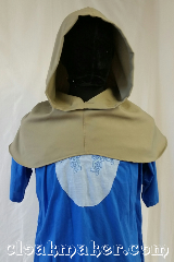 Cloak:H10, Cloak Style:Regular Hood, Cloak Color:Taupe, Fiber / Weave:Wool, Hood Lining:Unlined, Back Length:7&quot;, Neck Length:M - neck 25&quot;, Seasons:Spring, Fall, Note:This hood is a taupe color.<br>Wool blend, carefully hand wash<br>and drip dry.<br>25&quot; neck hole.<br>Pictured on tunic J501,<br>tunic not included..