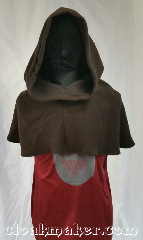 Cloak:H119, Cloak Style:Regular Hood, Cloak Color:Dark Brown, Fiber / Weave:Wool blend coating, Hood Lining:Unlined, Back Length:12&quot;, Neck Length:XL - neck 28&quot;, Seasons:Winter, Fall, Note:This hood is a good piece to wear over<br>a turtleneck or on top of something<br>else for additional warmth and dryness.<br>It&#039;s a dark chocolate brown,<br>Dry clean only.<br>28&quot; neck hole.<br>Pictured on tunic J561<br>Tunic not included..