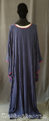 Gown ID:G958, Gown Color:Navy, Burgundy, Style:12th Century, Sleeve:Long Drop sleeve, Trim:Burgundy bias, Neckline Type:Scoop, Fabric:Rayon Tensile<br>Machine washable, Sleeve Length:34&quot;, Back Length:60&quot;.