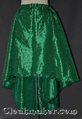 Skirt:K345, Skirt Color:Green, Skirt Style:Asymmetric<br>Green with quilted<br>pattern and sequins, Fiber:Polyester, Length:21&quot;-37&quot;, Waist:28&quot;.
