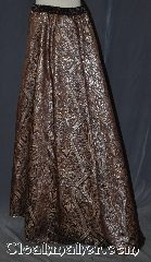 Skirt:K377, Skirt Color:Brown copper silver brocade, Skirt Style:A-line<br>dry clean or hand wash only<br>sold separately shown with  KB036, Fiber:Polyester Brocade, Length:44&quot;, Waist:up to 40&quot;.