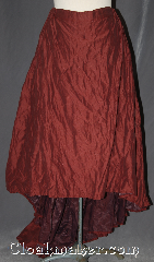 Skirt:K385, Skirt Color:maroon shimmer crinkle skirt, Skirt Style:A-line<br>dry clean or hand wash only<br>sold separately<br>shown with  KB035 and KB029, Fiber:Polyester, Length:31&quot; - 47&quot;, Waist:up to 48&quot;.