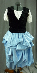 "Skirt:K99, Skirt Color:Blue Shimmer, Skirt Style:Multi-gore full circle dance skirt with height adjustment ties, Fiber:Rayon Poly, Length:37"", Waist:adjust to 52""."