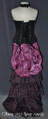 Skirt:KB001, Skirt Color:Maroon black feather pattern, Skirt Style:5 tier Bustle<br>dry clean or hand wash only, Fiber:Polyester, Length:up to 47&quot;, Waist:Panel 13&quot;.