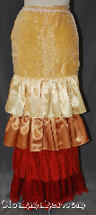 Skirt:KB032, Skirt Color:Fire bustle yellow<br>gold orange red, Skirt Style:4 tier Bustle<br>Machine washable, Fiber:Polyester, Length:up to 44&quot;, Waist:Panel 16&quot;.