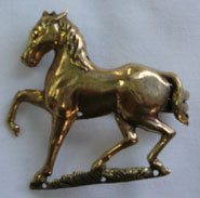 bronze prancing horse clasp