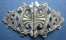 sterling silver celtic shield clasp