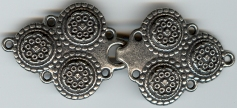 pewter triple medallion clasp