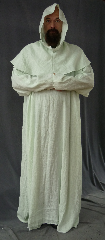 Robe:R162, Robe Style:Ritual Robe, Robe Color:Light Mint Green, Front/Collar:Wide rounded neck, Approx. Size:4X - 6X, Fiber:100% Linen, Neck:Up to 24&quot;, Neck Length:30&quot;, Sleeve:34&quot;, Chest:Fits up to 66&quot; (70&quot;), Length:63&quot;, Height:Up to 6&#039;3&quot;, Note:This pale green linen robe is attuned to Nature and is great for ritual wear. <br> Machine wash and dry. Can be ordered without removable cowl for $40 less.