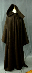 "Robe:R197, Robe Style:Anakin Episode III Robe, Robe Color:Brown, Front/Collar:Hooded with Brown cloth-covered hook and eye, Approx. Size:L to XXL, Fiber:Basket Weave Textured Wool, Neck:24"", Sleeve:37"", Chest:51"", Length:60.5"", Height:Up to 6'."