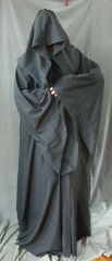 Robe:R210, Robe Style:Traveler&#039;s Robe / Mage Robe, Robe Color:Midnight Blue, Front/Collar:Hooded with Black cloth-covered hook and eye, Approx. Size:L to XXXL, Fiber:Tropical Suiting Wool Blend, Neck:25&quot;, Sleeve:38&quot;, Chest:Up to 54&quot;, Length:66&quot;, Height:Up to 6&#039; 6&quot;, Note:This robe can also be used<br>as a Dementor robe..