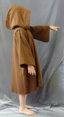 "Robe:R245, Robe Style:Obi-Wan Jedi Robe, Robe Color:Coffee, Approx. Size:Youth 2 - 6 years old, Fiber:Wool, Neck:18.5"", Sleeve:14.5"", Chest:Up to 38"", Length:29""."