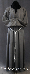 Robe:R275, Robe Style:Acolyte Robe, Robe Color:Grey, Front/Collar:Rounded Keyhole neck, Fiber:Polyester blend Twill, Neck:24&quot;, Sleeve:30&quot;, Chest:46&quot;, Length:58&quot;, Height:Up to 5&#039; 10&quot;, Note:A fun garment made of lightweight<br>Grey polyester blend twill<br>Designed with a rounded keyhole neck<br>and comes with rope belt with the<br>option of a leather belt for an added $44.<br>Hood option also available<br> Machine Washable.