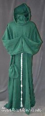 Robe:R283, Robe Style:Monks Robe with Attached cowl and pouch, Robe Color:Leafy Green, Fiber:100% Linen, Neck:22&quot;, Sleeve:37&quot;, Chest:65&quot;, Length:61&quot;, Height:up to 6&#039; 1&quot;, Note:A light weight leafy Green monks robe<br>made of breathable linen.<br>Can be hemmed to desired length.<br>Rope belt included<br>leather belt option available for extra $45<br>Machine washable..