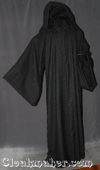 Robe:R295, Robe Style:Gandalf the Grey/ Wizard robe, Robe Color:Charcoal Grey, Fiber:100% Wool, Neck:25&quot;, Sleeve:36&quot;, Chest:64&quot;, Length:64&quot;, Height:Up to 6&quot; 4&quot;, Note:This Gandalf inspired robe<br>is made of 100% wool with pointed<br> sleeve extensions and a lirepipe hood.<br>Dry Clean Only.