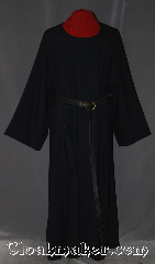 Robe:R309, Robe Style:Monks Robe with coin pouch, Robe Color:Off Black Onyx, Front/Collar:Round neck, Fiber:100 % Light Weight Wool, Neck:24&quot;, Sleeve:40&quot;, Chest:Up to 60&quot;, Length:56&quot;, Height:Up to 5&#039; 8&quot;, Note:This light weight off black onyx<br>monks robe is made of 100% wool<br>and perfect for cool indoor events.<br>The robe can be hemmed<br>to desired length.<br>A rope belt is included with the<br>option of a leather belt<br>for extra $45.<br>Dry clean only..