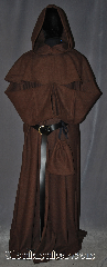Robe:R324, Robe Style:Monks Robe with Detached<br>cowl and coin pouch, Robe Color:Olive Brown, Fiber:Wool / Polyester blend, Sleeve:37&quot;, Chest:Up to 70&quot;, Length:64&quot;, Height:Up to 6&#039; 4&quot;<br>Can be shortened, Note:This olive brown wool<br> blend robe with detached hood<br>can be hemmed to<br>desired length.<br>Perfect for cool outdoor events.<br>Rope belt included<br>with the option of a<br>leather belt for<br>extra $45 pictured.<br>Dry clean only.