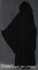 Robe:R341, Robe Style:Emperor Palpatine / Darth Sidious Outer Robe, Robe Color:Black, Fiber:100% woven wool, Neck:25.5&quot;, Sleeve:35&quot;-39&quot;, Chest:Up to 60&quot;, Length:66&quot;, Note:Join the dark side with<br>Emperor Palpatine&#039;s heavy<br>weight 100% wool with<br>cording in the extra large hood<br> and adjustable ruch<br>on the sleeves.<br>Dry clean only..