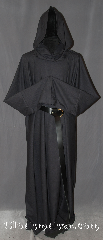Robe:R342, Robe Style:Monk&#039;s Robe with attached hooded cowl, Robe Color:Navy Blue almost Black, Fiber:Wool blend Suiting Machine washable, Neck:26&quot;, Sleeve:41&quot;, Chest:Up to 54&quot;, Length:60&quot;, Height:Up to 5&#039;10&quot;, Note:Smooth and resilient this Diamond weave wool <br>blend robe is comfortable for<br>whatever you need to do.<br>Pictured with a leather belt<br>(not included).<br>Robe comes with a rope belt<br>and a matching pouch..