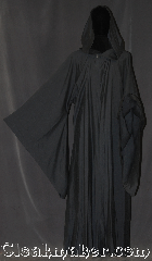 Robe:R344, Robe Style:Gandalf druid or traveler Robe, Robe Color:Grey, Fiber:Wool blend Suiting<br>Machine washable, Neck:24&quot;, Sleeve:37&quot;, Chest:up to 68&quot;, Length:62&quot;, Note:A soft, lightweight robe<br>with a pointed hood and<br>sleeves and an open front,<br>this garment is easy to<br>move in and is perfect for<br>LARP events or serious occasions.<br>Versatile for wizards,<br>or other mystical beings..