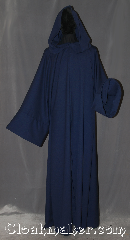 Robe:R347, Robe Style:Druid or Traveler Robe, Robe Color:Navy, Fiber:Wool blend Suiting, Neck:23&quot;, Sleeve:37&quot;, Chest:Up to 50&quot;, Length:64&quot;, Note:A navy woven textured robe<br>with a liripipe hood<br>and an open front,<br>this garment is easy to<br>move in and is perfect for<br>LARP events or serious occasions.<br>Versatile for wizards,<br>or other mystical beings..