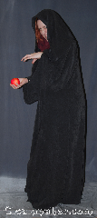 Robe:R357, Robe Style:Sith or Holocaust Style Cloak, Robe Color:Dark Grey, Fiber:Rayon Polyester Brushed Twill<br>with a soft texture, Neck:25&quot;, Sleeve:35&quot;, Chest:fits up to 48&quot;, Length:65&quot;, Height:Up to 6&#039;4&quot;, Note:Versatile for monks Jedi/Sith,<br>wizards, and more, this hooded<br>robe has large sleeves<br>and hidden hook and eye clasp.<br>Made of a light weight<br>rayon polyester brushed twill<br>with a soft texture.<br> Easy care machine wash and dry.