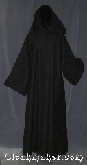 Robe:R360, Robe Style:Sith or Holocaust Style Cloak, Robe Color:Black, Fiber:100 % Wool, Neck:22&quot;, Sleeve:38&quot;, Chest:Up to 50&quot;, Length:58&quot;, Height:Up to 5&#039;7&quot;, Note:Hooded Sith or Holocaust Style Cloak<br>with a black vale hook and eye clasp<br>light weight<br>Made of a classic feeling<br>100% wool flat woven<br>Dry clean only..