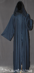 Robe:R385, Robe Style:Gandalf, Druid or Traveler Robe, Robe Color:Steel blue / Grey, Fiber:Wool Blend Woven suiting<br> Machine washable, Neck Length:21.5&quot;, Sleeve:34&quot;, Chest:Up to 50&quot;, Length:65&quot;, Height:Up to 6&#039;5&quot;, Note:Unique, light weight and easy care<br>this robe is a great Gandalf wizard or druid<br>perfect for use during the spring or fall.<br>Made of a machine washable novelty<br>weave wool suiting with hook<br>and eye clasp and liripipe hood <br>makes a great accessory for  everyday wear,<br> LARP Renaissance Fair..