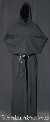 Robe:R388, Robe Style:Monk&#039;s Robe with Detached cowl, Robe Color:Medium Grey, Fiber:100% Linen, Sleeve:37&quot;, Chest:58&quot;, Length:65&quot;, Height:Up to 6&#039;, Note:Lightweight and easy care,<br>in a medium grey,<br>a great piece of spring monk outerwear.<br>Made with a breathable detachable<br>hood coin pouch and rope belt<br>Pictured with a leather belt<br> BTR0001NS for an added $44<br>(not included).<br>Robe comes with a rope belt<br>makes a great accessory for everyday wear,<br> LARP or Renaissance Fair.<br>The Robe is machine washable!.