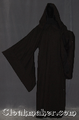 Robe:R400, Robe Style:Jedi Robe, Mace Windu /Sith / Wizard, Robe Color:Brown with brown, golden tan<br>and harvest gold weave, Front/Collar:hidden clasp, Fiber:wool twill machine washable, Neck Length:24&quot;, Sleeve:32.5&quot;, Chest:up to 60&quot;, Length:55&quot;, Height:up to 5&#039;6&quot;, Note:Lightweight and easy care,<br>a great piece of spring outerwear.<br>Made with a breathable<br>dark chocolate wool blend twill<br> with hidden clasp and<br>interior ribbed satin edging<br>Fashioned after Mace Windu<br>with long pointed sleeves with a wizardly grace<br>Makes a great accessory for<br>everyday wear, LARP or<br>Renaissance Fair.<br>The Robe is machine washable!.