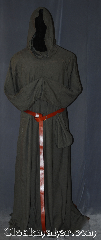 Robe:R401, Robe Style:Monk&#039;s Robe<br>with attached hooded cowl, Robe Color:Warm slate brown, Fiber:Cotton Poly blend, Neck:24&quot;, Sleeve:41&quot;, Chest:Up to 58&quot;, Length:70&quot;, Height:Up to 6&#039; 8&quot;, Note:Made of easy care light weight <br>cotton polyester suiting this<br>attached hood monks robe<br>is comfortable for<br>whatever you need to do.<br> can be hemmed to desired length<br>A coin pouch and rope belt<br>is included with the<br>option of a leather belt<br> pictured for extra $45<br>Machine washable..