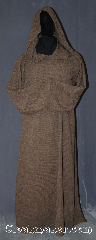 Robe:R404, Robe Style:Monk&#039;s Robe with attached hooded cowl, Robe Color:Brown, Fiber:Homespun look heathered brown<br>Poly Suiting, Neck:31&quot;, Sleeve:41&quot;, Chest:up to 56&quot;, Length:58&quot;, Height:5&#039;7&quot;, Note:This durable polyester suiting<br>gives the looks of homespun linen<br>without the wrinkles.<br>With a rough feel classic medieval look.<br>Machine wash. Easy care.