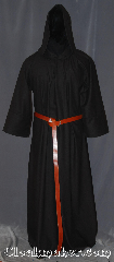 Robe:R406, Robe Style:Monk&#039;s Robe with attached hooded cowl, Robe Color:Dark Brown, Fiber:100% Wool, Sleeve:35&quot;, Chest:up to 56&quot;, Length:64&quot;, Height:Up to 6&#039;3&quot;, Note:Made of easy care light weight<br>100% wool suiting<br>this dark brown attached hood<br>monks robe is comfortable for<br>whatever you need to do.<br> can be<br>hemmed to desired length<br>Option of a leather belt<br> pictured for extra $45.<br> Machine washable..