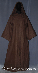Robe:R407, Robe Style:Jedi Robe / Wizard, Robe Color:Walnut Brown, Fiber:Wool Blend homespun<br>tight burlap look, Sleeve:32.5&quot;, Chest:Up to 46&quot;, Length:59&quot;, Height:5&#039;8&quot;, Note:Made of  a wool blend homespun<br> tight burlap look suiting<br>this walnut brown open front<br>Jedi / Wizard robe is comfortable and versatile.<br>Can be hemmed to desired length<br> Machine washable..