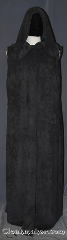 Robe:R410, Robe Style:Deatheater / sleeveless under robe, Robe Color:corded grey, Fiber:Polyester, Sleeve:n/a, Chest:52&quot;, Length:60&quot;, Note:A unique piece designed after a death-eater<br>or medieval under-robe/ duster.<br>This sleeveless  robe is perfect for<br>sword fighting and acrobatics with a<br>tailed open back for a dramatic flair.<br>Machine washable.