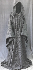 "Robe:R419, Robe Style:Gandalf druid or Traveler, Robe Color:Grey, Fiber:Wool Blend Suiting, Neck:22"", Sleeve:35"", Chest:52"", Length:64"", Note:Gandalf style chest 52."