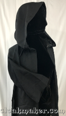"Robe:R421, Robe Style:Child's size robes w/ pockets, Robe Color:Black, Fiber:Wool, Neck:18"", Sleeve:23"", Length:41"", Note:Child's size robes w/ pockets."
