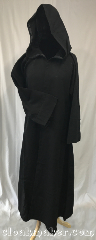 Robe:R423, Robe Style:Monk&#039;s Robe with attached<br>hooded cowl, Robe Color:Black, Fiber:Wool, Neck:21.5&quot;, Sleeve:31&quot;, Length:52&quot;.