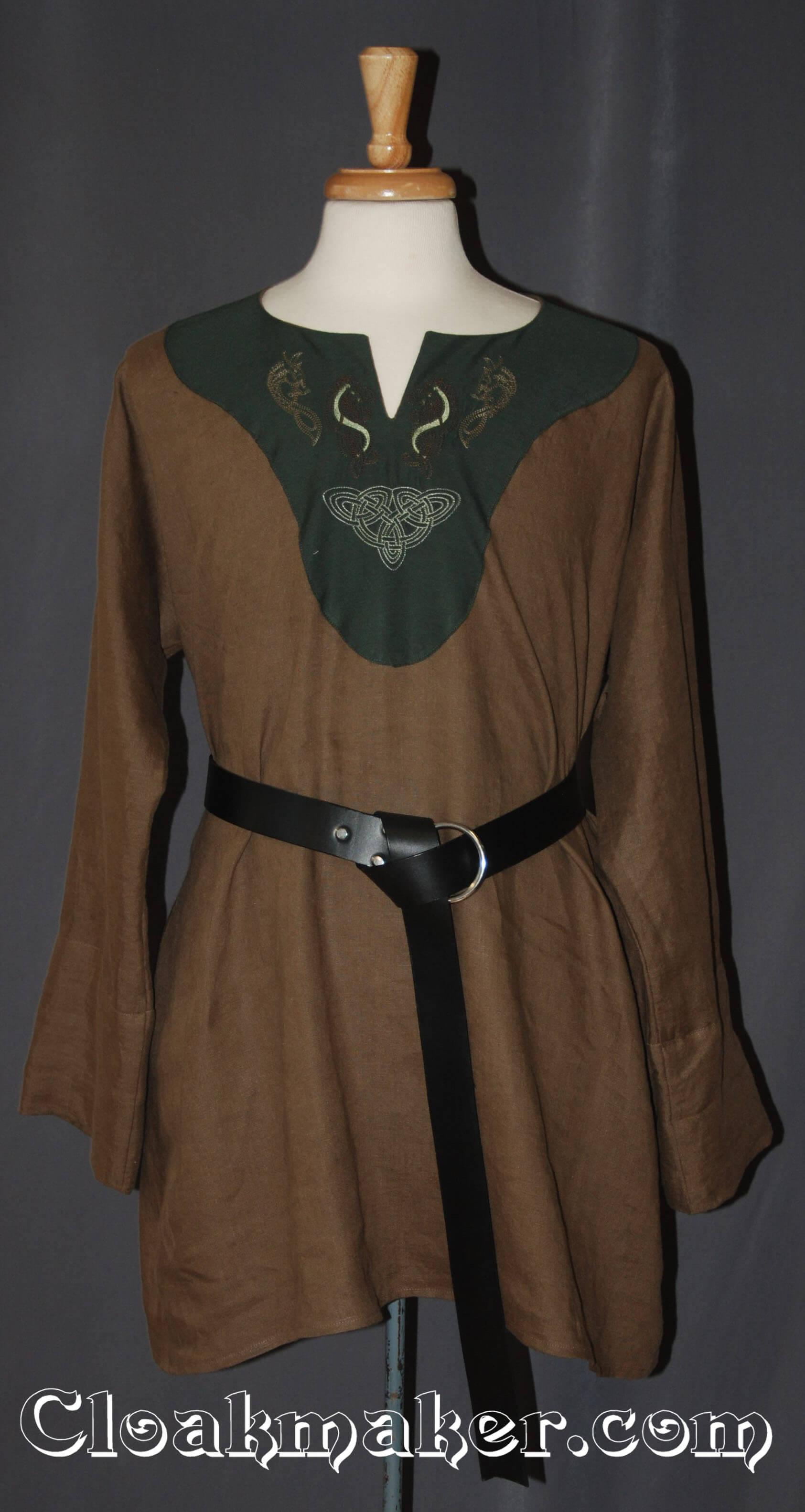 Celtic knot tunic in green cotton bnhe5GAv8x