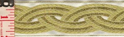Trim: Braid, large (Gold on White)
