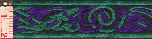 Wide Celtic Beasties purple/gold