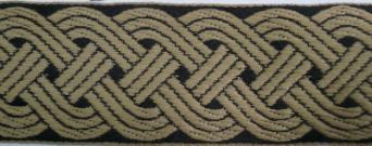 Trim: 12 Strand Celtic Braid, (Tan/Black)