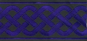 Trim: 3-Strand Celtic Braid, Wide (Purple/Black)